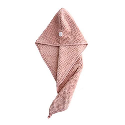 Home+ Toalla de Pelo de Microfibra Turbante 3packMicRofiber Tapas de Secado rápido Toalla de Cabello DIEADOR DE Secado rápido de la Cabeza de la Cabeza Absorbente Suave (Color : Pink)