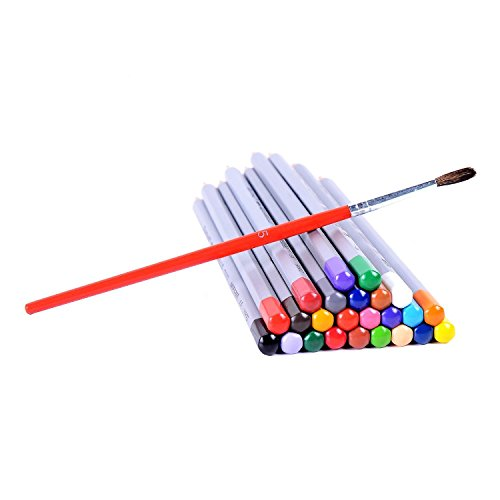 Ohuhu 24-color Watercolor Pencils/Water Soluble Colored Pencil Set