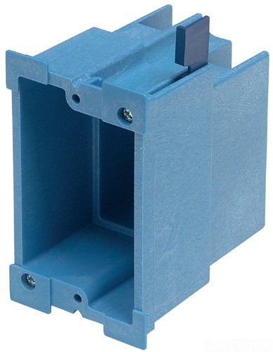 Carlon BH118R Outlet Box, Old Work, 1 Gang, 3-7/8-Inch Length by 2-3/8-Inch Width by 3-5/8-Inch Depth, Blue