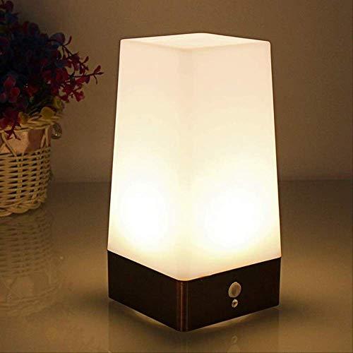 Inductie LED nachtlampje camping lamp draagbare leeslamp met bewegingsmelder aan-/uitschakelaar zoals afgebeeld vierkant