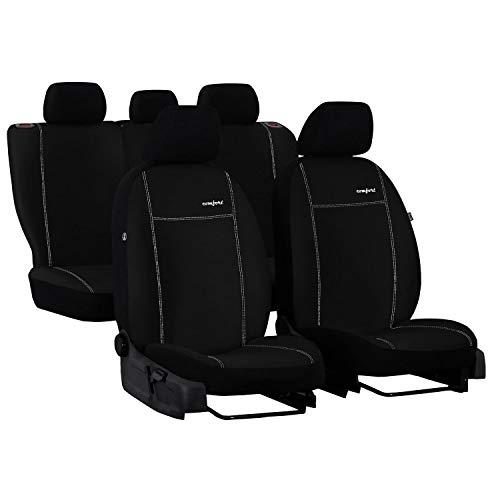 Saferide - Juego de 3 fundas universales para asientos de coche (ante sintético, aptas para asientos delanteros y traseros 1 + 1 asientos delanteros y 1 banco trasero divisible 2)