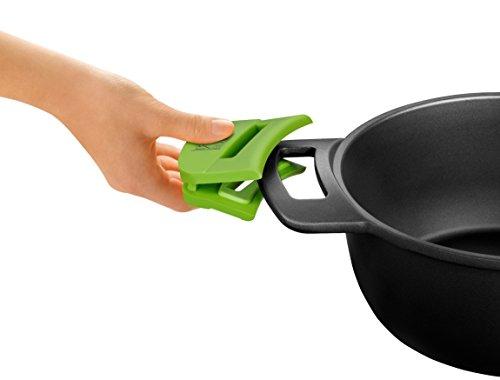 BRA PRIOR - Wok con mango, aluminio fundido con antiadherente, apto inducción, Diámetro superior 28 cm, Diámetro base 15 cm