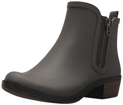 Lucky Brand Women's Baselrain Rain Boot, Storm Crocodile, 11 Medium US