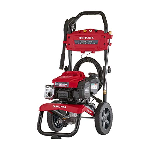 CRAFTSMAN 3000 MAX PSI at 2.1 GPM Gas Pressure Washer with Ready Start, Idle Down Technology, 25-Foot Hose, and 4 Quick-Connect Nozzles, Powered by Briggs & Stratton