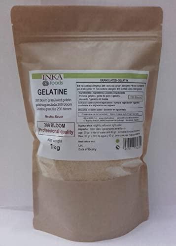 Gélatine granulée de qualité professionnelle, saveur neutre - 1kg