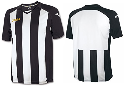 Joma 1202.98.010 T-Shirt Manches Courtes Sportswear, Noir/Blanc, FR : M (Taille Fabricant : M)