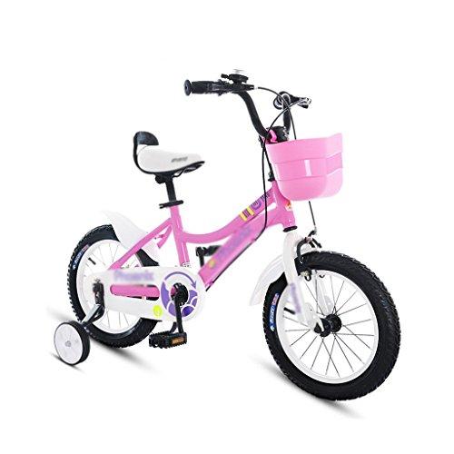 NZ-Children's bicycles Biciclette Biciclette per Bambini 2-7 Anni Ragazzo in Bicicletta 14/16/18 Pollice Ragazza Passeggino Bambini Mountain Bike (Colore: Rosa, Misura: 14 Pollici)