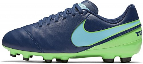 Nike Unisex-Erwachsene Tiempo Legend VI FG JR 819186 443 Fußballschuhe, Iceblue/MILTRY BLU-M, 38 EU