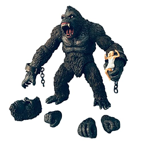 agzhu Film King Kong Action Figure Spielzeug 18cm, Godzilla Vs Kong Figurine Collection Action Figure Modell Spielzeug Geschenk