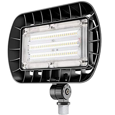 bulbeats Durable 50W LED Flood Light with Knuckle Mount, 5500LM Super Bright, 5000K Daylight, IP65 Waterproof Security Light for Outdoor Security Lighting