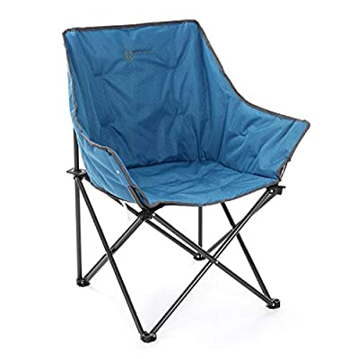 ARROWHEAD OUTDOOR Portable Folding Camping Quad Bucket Chair, Compact, Heavy-Duty, Steel Frame, Supports up to 250lbs | Includes Carrying Bag | USA-Based Support (Blue)