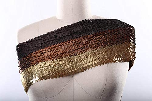 Chocolate Brown Copper and Antique Sequin Year-end annual account Super-cheap Tri Gold Stretch uKET