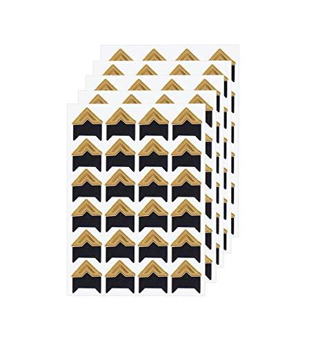 360 Count Self-Adhesive Acid Free Photo Corners for Scrapbooks Memory Books (Gold)