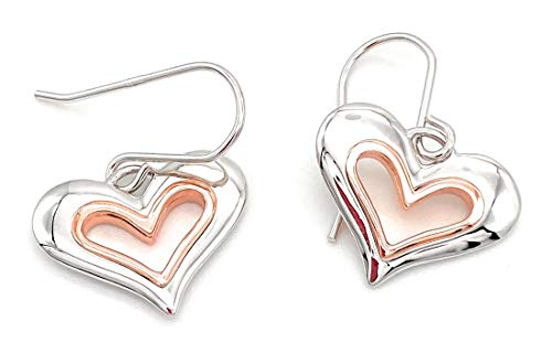 Clogau Gold Always In My Heart Earrings Sterling Silver & 9ct Rose Gold
