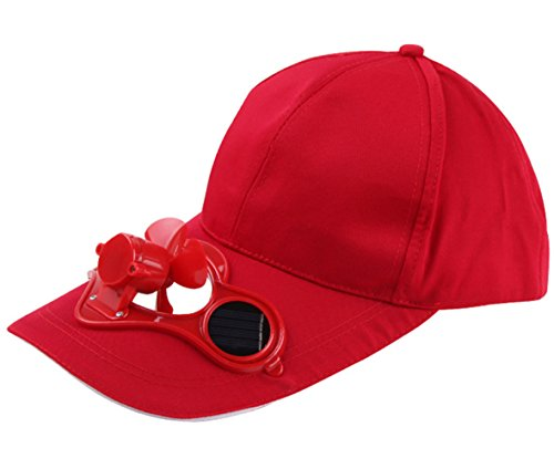 Acchen Solar Powered Fan Caps Cooling in Summer Solar Panel on The Cap Front Baseball Golf Hat