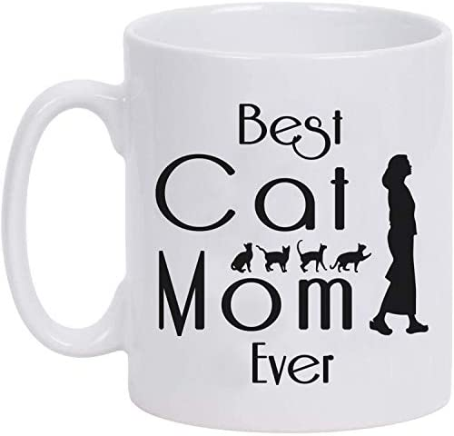 Best Cat Mom Ever 11oz Funny Coffee Mug Mugs for Women Gifts for Cat Lovers Friend and Family product image