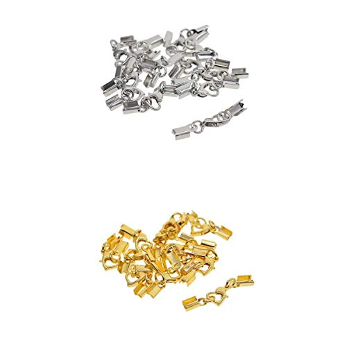 oshhni 24 Piezas de Broche de Latón, Ganchos para Manualidades de Joyería de Bricolaje para Collares, Pulseras