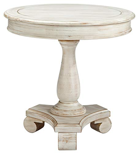 Signature Design by Ashley Mirimyn End Cottage Style Accent Table-Chipped White