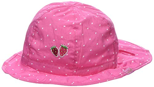 maximo Mädchen Flapper, Nackenschutz Mütze, Rosa (Pink Rose-Weiss-Tropfen 64), 51