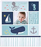 Carter's B0-14074 Blue Nautical First 5 Years Loose Leaf Baby Memory Book for Boys, 64 Pages