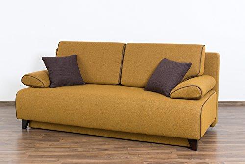 Möbel für Dich Schlafsofa Bettsofa Florida mit extrabreiter XXL Liegefläche von 160x200 cm bezogen mit Webstoff Savanna mit Farbauswahl