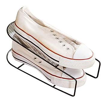Shoe Rack Shoes Storage Organizer Space Saver 4 Pcs Black