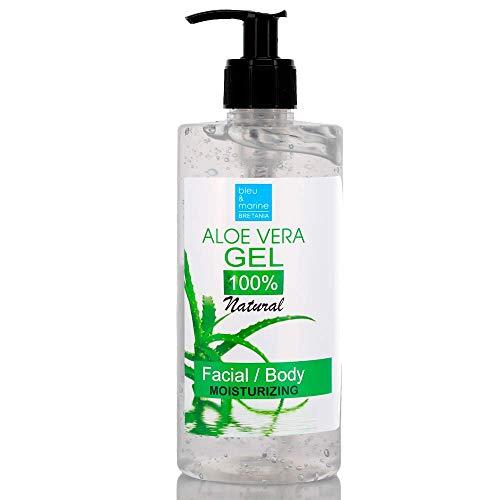 100% Rein natürlich Konzentrat: Aloe Vera Gel für Gesicht, Haare & Körper 500 ml - Sonnenbrand, Hautausschlag, Käfer- oder Insektenstiche, trockene und beschädigte alternde Haut, Rasurbrand und Akne