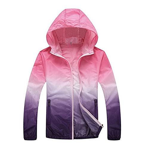 Ultra-sottile Donne Anti- sport plus size giacca vestiti Quick Dry Pelle Ciclismo, rosa, 4XL