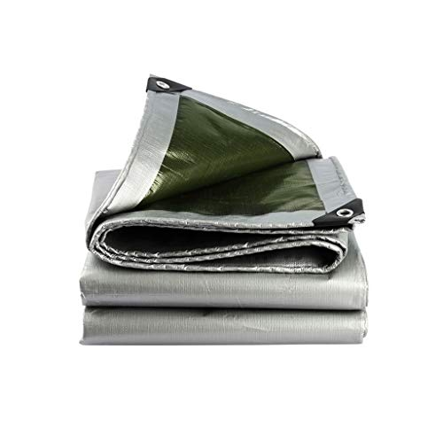 Sunshades Depot Heavy Duty Waterproof Tarp Multi Purpose Waterproof Poly Tarp Cover Reinforced Rip-Stop with Grommets