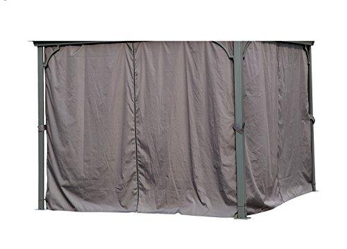 Angel Living 3 x 3 m Aluminio Patio Gazebo Toldo Marquee Carpa Hardtop Techo Jardín Refugio (Paredes Laterales para Gazebo)