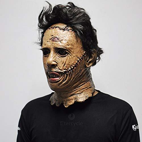MSSJ Motosierra Masacre Máscara Máscara de Horror de Halloween Película Cosplay Máscara Fiesta de Adultos Accesorios de Disfraces Látex Juguetes Divertidos