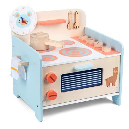 PETRLOY Juguetes Juego de juguetes de cocina, Utensilios de cocina de madera, Accesorios de cocina de juguete, Cocina de simulación Cocina de inducción Juego de juguetes de cocina Juguetes de cocina p