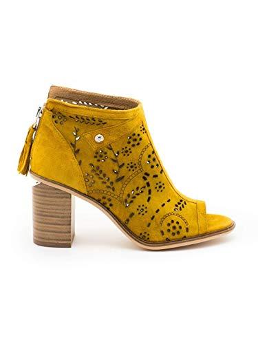 Sandalias Alpe 4030 Abotinada Mostaza para Mujer 41 Amarillo