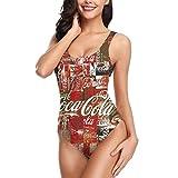 Soft Drink Red Coke Art Womens Bikini One Piece Monokini...