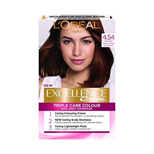 L'Oreal Excellence Permanent Hair Colour 4.54 Dark Copper Mahogany
