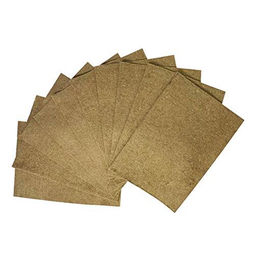 Set van 10 Hennep matten voor Wormenbak (Worm Café, etc) | Rechthoek 55 x 40 cm