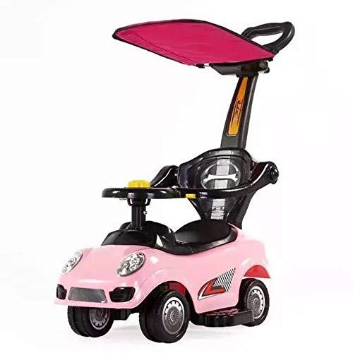 Angelay-Tian Fahrrad Kinder Wanderer, Push-Autofahrt auf Push-Auto mit abnehmbarem Elterngriff für 2-jährige Jungen Mädchen Geschenk (Color : B)