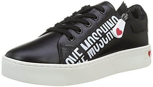 Love Moschino Damen, Scarpe Da Donna, Pre Collezione Autunno Inverno 2021 Sneaker, Schwarz, 37 EU