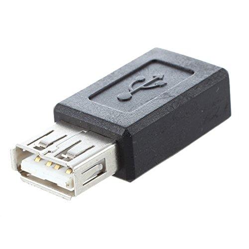 sourcingmap® Negro USB 2.0 Clase A Hembra A Micro USB B Adaptador Hembra Enchufe Convertidor