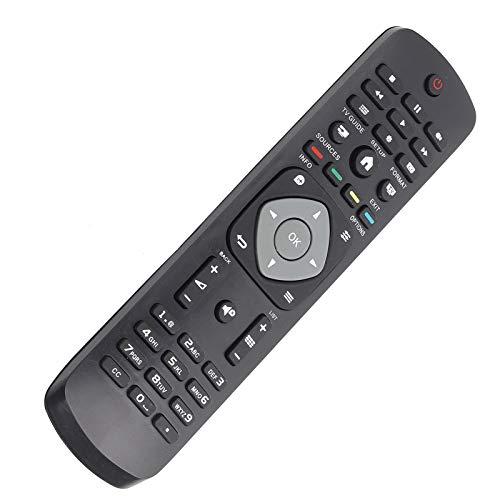 Shipenophy Mando a Distancia Universal fácil de agarrar Mando a Distancia pequeño sin programación, para LCD LED TV, para Philips Smart TV
