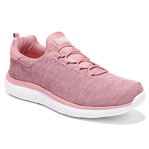 HKR - Scarpe da ginnastica da donna con memory foam, leggere, da corsa, Rosa (rosa), 37 EU