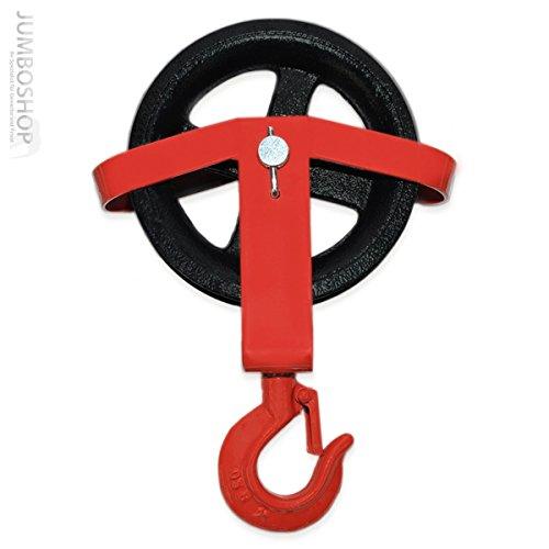 Seilwerk STANKE 180mm Umlenkrolle mit Haken Seilwinde Seilzug Seilrolle Windenrolle Flaschenzug Baurolle Bau Aufzug *PROFI*