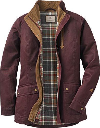 Legendary Whitetails Womens Saddle Country Shirt Jacket, Rusty Maroon, Medium