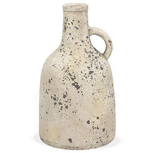 matches21 Vase Terracotta Keramik Henkel Blumenvase Antik Look Tischvase Krug Vintage Shabby 1 STK - 17,5x30 cm