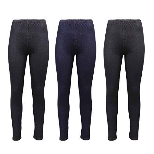 Da Donna Slim Fit Skinny Jeggings Donna Vita Alta Leggings Jeans Pantaloni 8-26