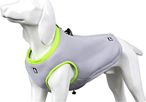 SGODA Dog Cooling Vest Harness Cooler Jacket Grey Green Small
