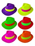 CLICSON - Kit 12 Cappelli Festa Fluo per Party, Eventi e Feste a Tema. Vari Colori Assortiti