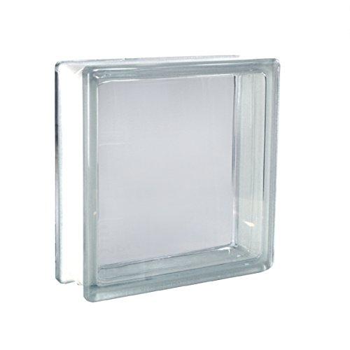 5 piezas FUCHS bloques de vidrio vista completa neutro 24x24x8 cm