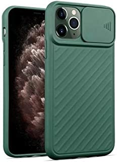 FOR iPhone 11 Pro sillicon Case, CamShield Series Case with Slide Camera Cover, Slim Stylish - Dark Green