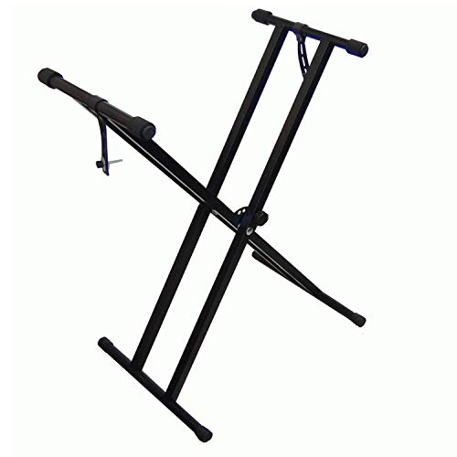 DynaSun MKX2 Support Stand Clavier Dual Tube forme-X pour Clavier Piano Synthétiseur Workstation